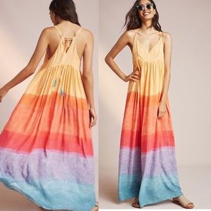 Anthropologie Carla Week's Setting Sun Maxi Dress